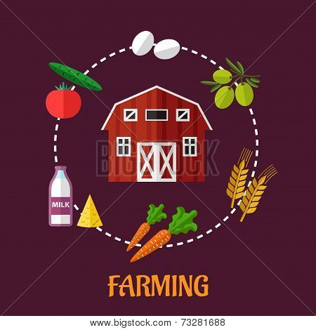 Farming infographic showing various crops