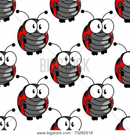 Ladybug seamless background pattern
