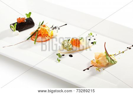 Seafood Canapes - Crabmeat, Shrimps and Squid