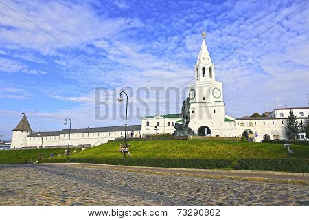 Kazan Kremlin And Monument To Musa Jalil