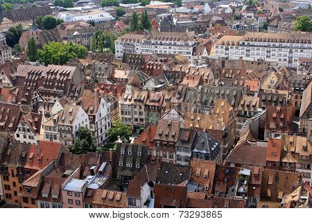 View of Strasbourg, Alsace, France