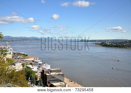 Saint Lawrence River in Quebec City