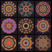 stock photo of doilies  - Circle lace ornament - JPG