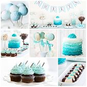 picture of ombre  - Collection of dessert table images - JPG
