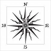 picture of compass rose  - Old Sign Windrose - JPG