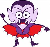 image of terrific  - Brave vampire in minimalist style with pointy ears - JPG