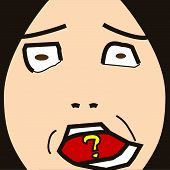 pic of feeling stupid  - cartoon face expression emotion symbol icon sign stupid - JPG