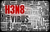 stock photo of avian flu  - H3N8 Concept as a Medical Research Topic - JPG