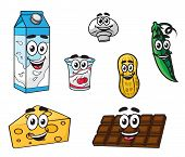 Постер, плакат: Set of food characters