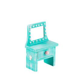 foto of console-mirror  - Blue console mirror handmade - JPG