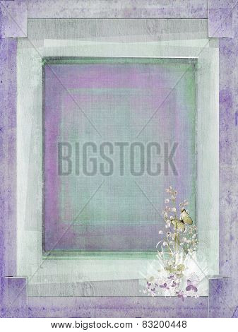 Slit corner textured wedding frame