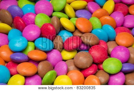 Sugar Coated Candy in various Colours