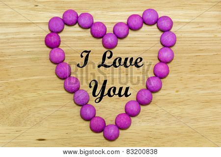 I Love You in a Sugar Coated Candy Heart