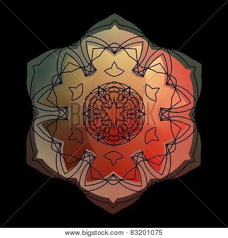Lace  Floral Ethnic Ornament