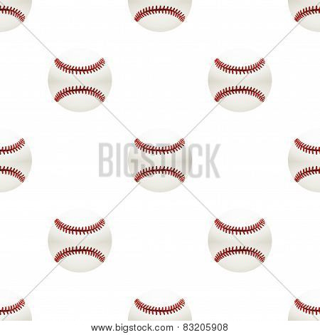 Universal vector baseball seamless patterns tiling. Sport theme with balls.