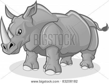 High Quality Rhinoceros Vector Cartoon Illustration