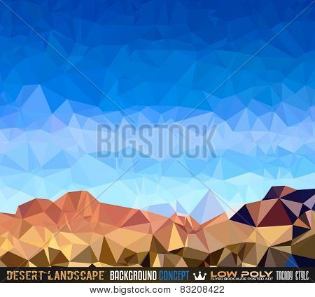 Low Poly trangular trendy Art background for your polygonal flyer, stylish brochure, poster background and fresh applications.