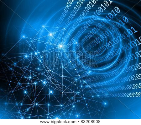 Abstract blue background. Technology background, from series best concept of global busines