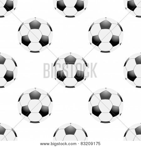 Universal vector football seamless patterns tiling. Sport theme with balls.