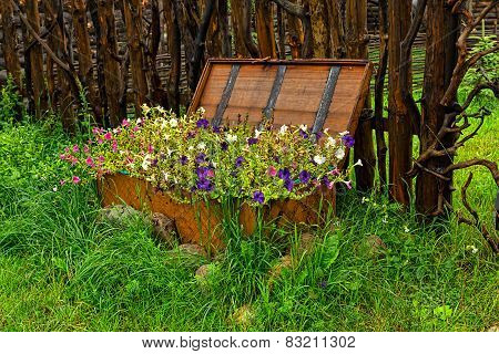 Flowers In An Original Bed