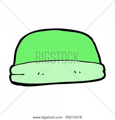 retro comic book style cartoon hat
