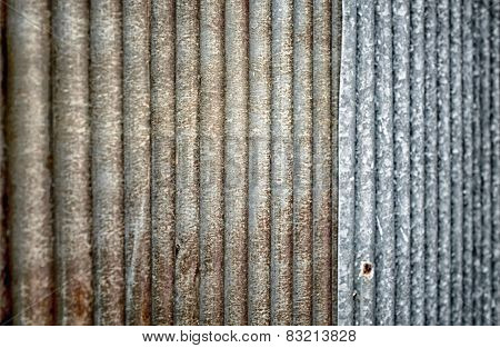 Close up of rust zinc