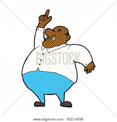 retro comic book style cartoon big fat boss