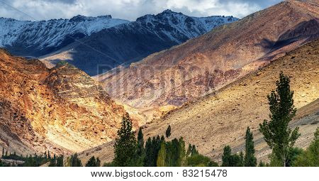 Landscape Of Ladakh, Jammu And Kashmir, India
