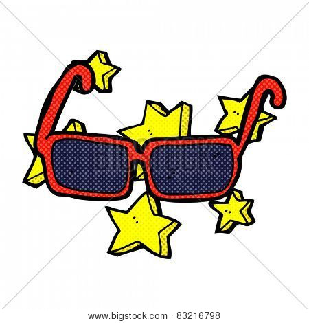 retro comic book style cartoon expensive sunglasses
