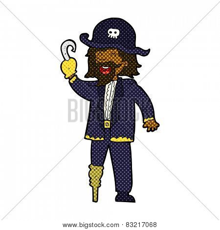 retro comic book style cartoon pirate captain