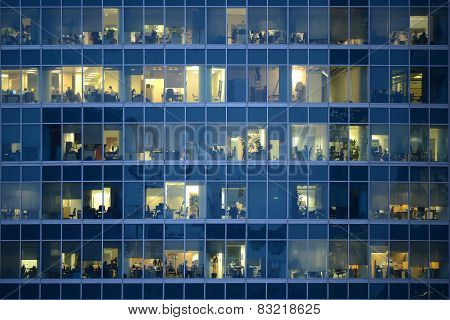People Work In An Offices.
