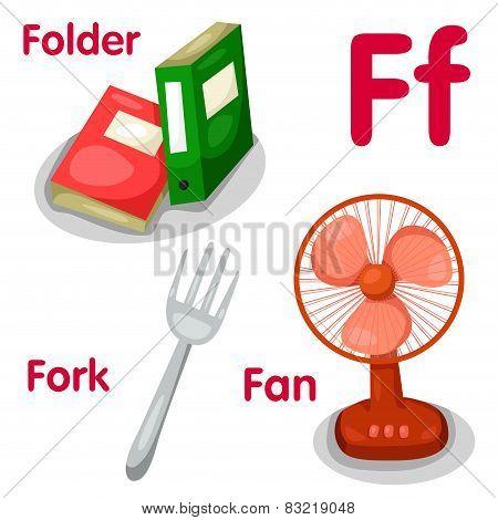 Illustrator of f alphabet