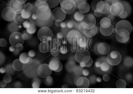 dark black and white circle shape boke background
