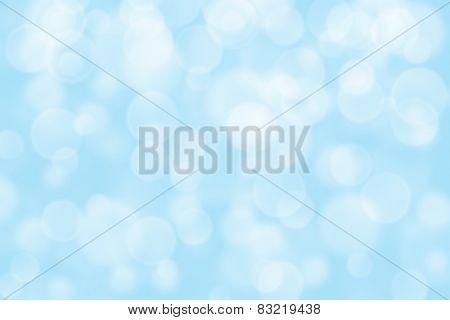 light blue circle shape boke as background