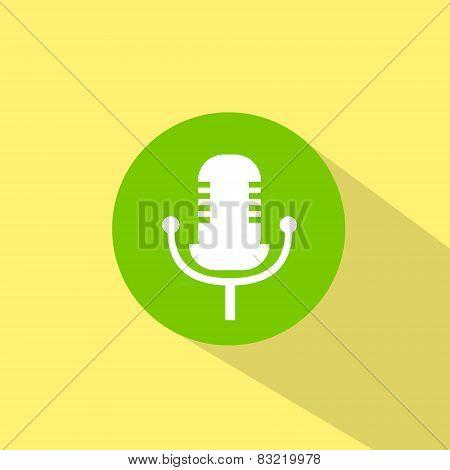 microphone music sound icon flat design vector