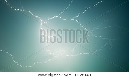 Nature Photography - Lightning - Discharge In Sky
