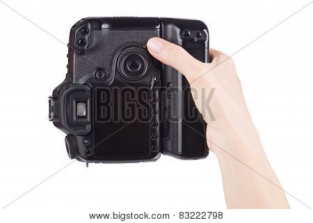 Female Hand Holding Digital Camera
