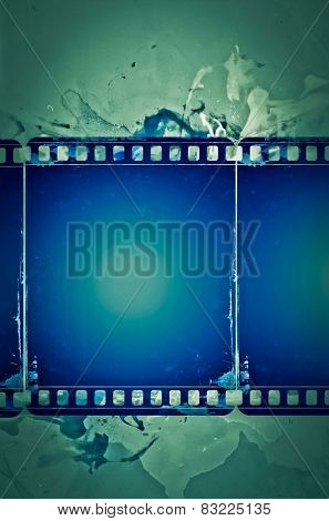 High detailed grunge film frame with space for your text or image.