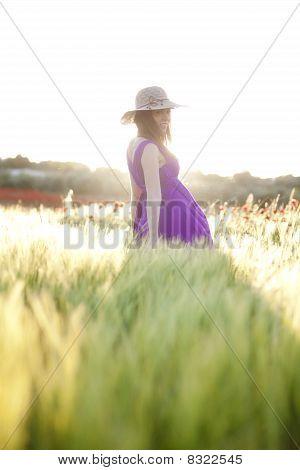 Pregnant Female On Field