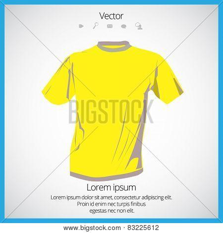 Men's yellow short sleeve t-shirt