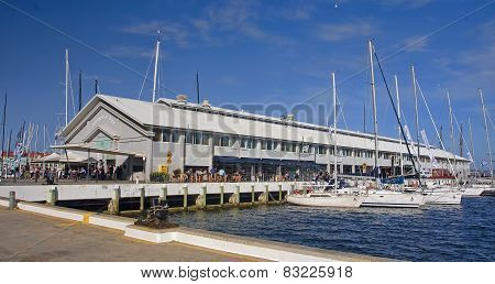 Hobart, Australia - January 1, 2015:  View Of The Port On 1 J