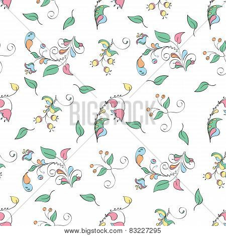 elegant background of flowers in a rustic style