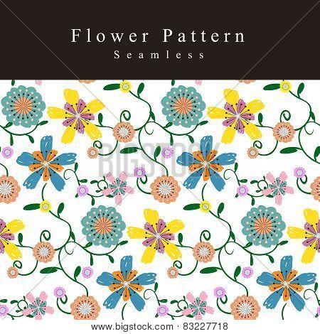 Adorable Flower Seamless Pattern