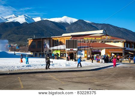 Bansko ski station, cable car lift, Bulgaria