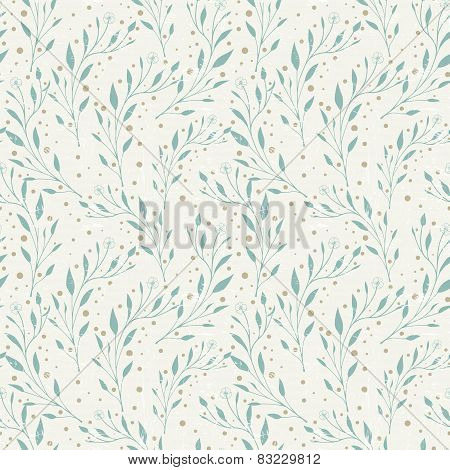 Elegant Seamless Pattern With Foliage Elements