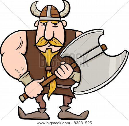 Viking Cartoon Illustration