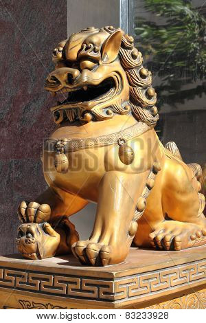 Chinese Imperial Lion Statue
