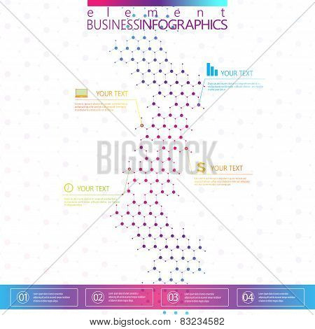 Modern design dna on gray background, concept template for infographics