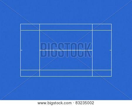 Tennis Court Hard Layout