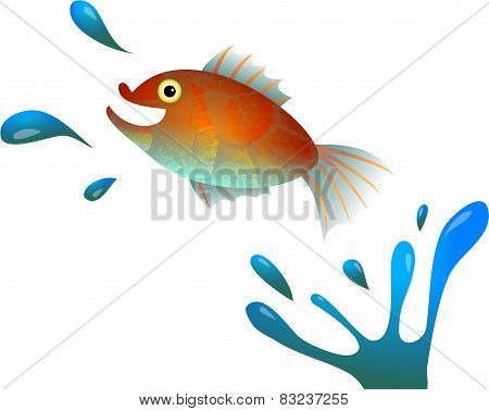 Cartoon Jumping Fish